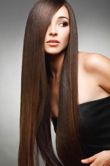 Platt hår - plattång