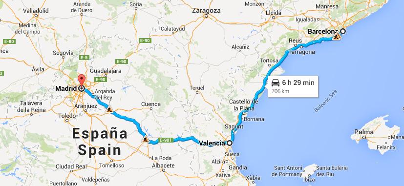 Spanien-resväg